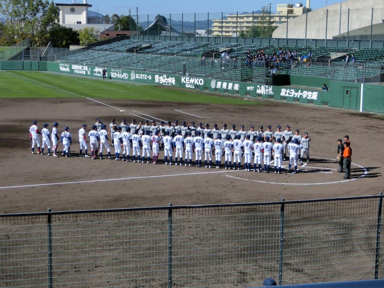 明治神宮野球大会第10回北海道地区代表決定戦(第2戦目)開幕